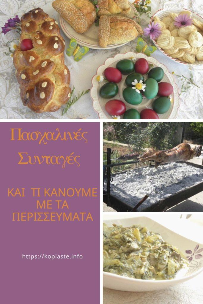 Κολάζ Πασχαλινές Συνταγές και τί κάνουμε με τα περισσεύματα εικόνα