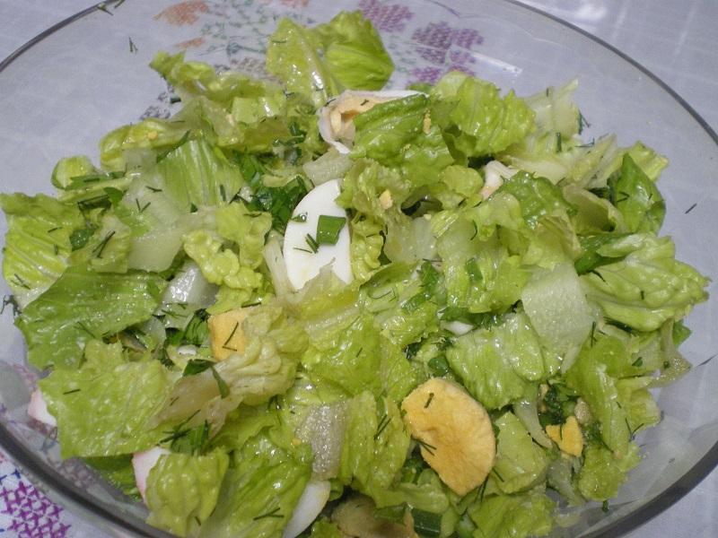 παλιά σαλάτα με μαρούλι εικόνα