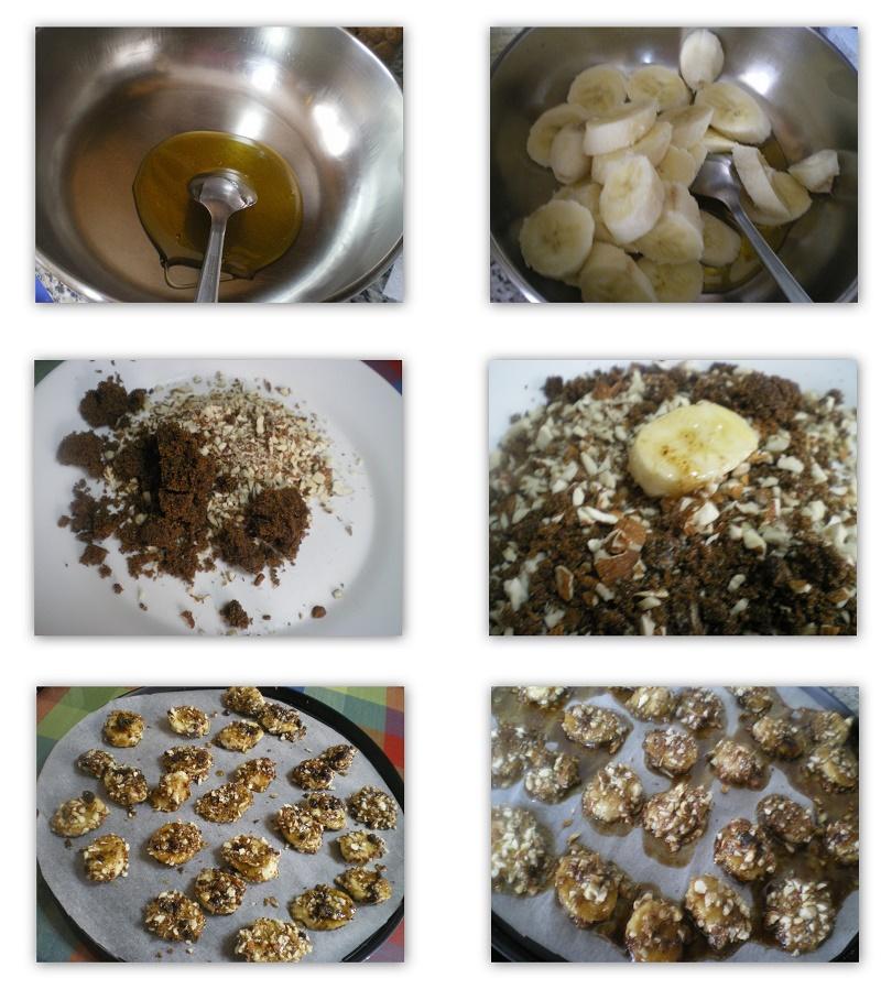 Κολάζ καραμελωμένες μπανάνες εικόνα