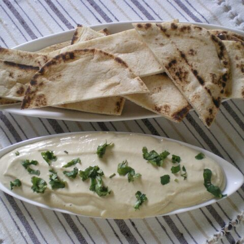 Tahini served with Cypriot Pita image