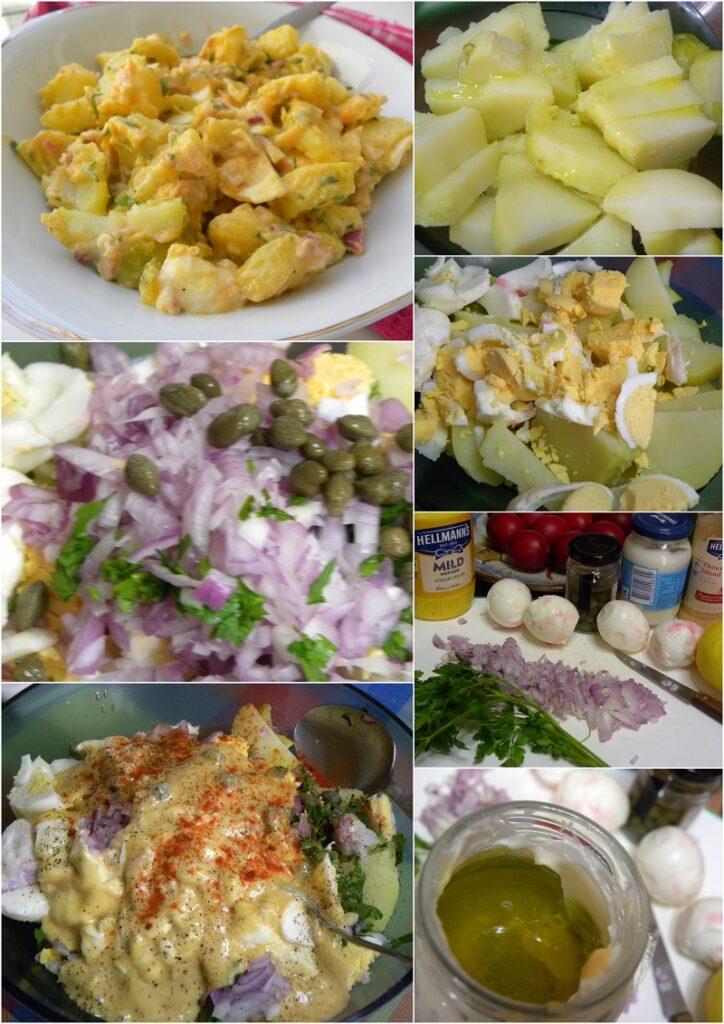 Κολάζ Σαλάτα με πατάτες και αυγά εικόνα